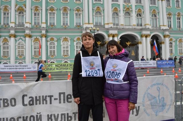 Светлана пробежала марафон вместе с внуком.