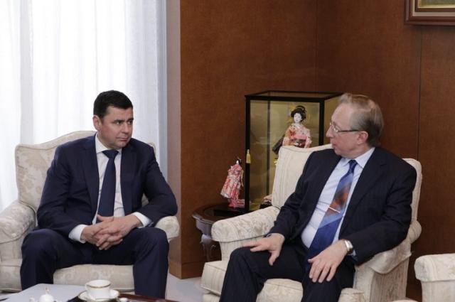 Дмитрий Миронов встретился с послом России в Японии Михаилом Галузиным.