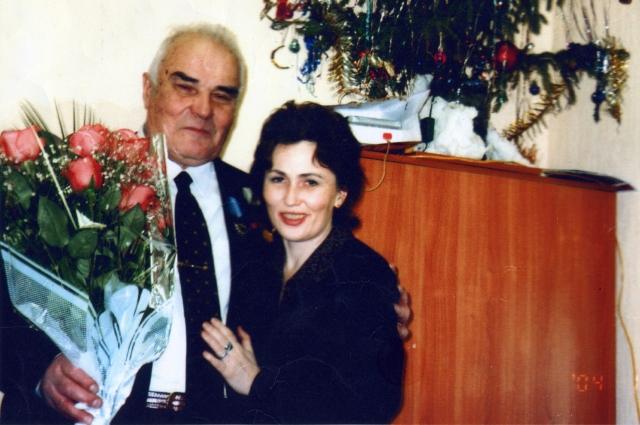 Геннадий Кононов с дочерью.