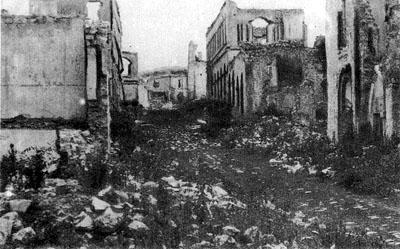 Руины армянского квартала города Шуша, 1920 год