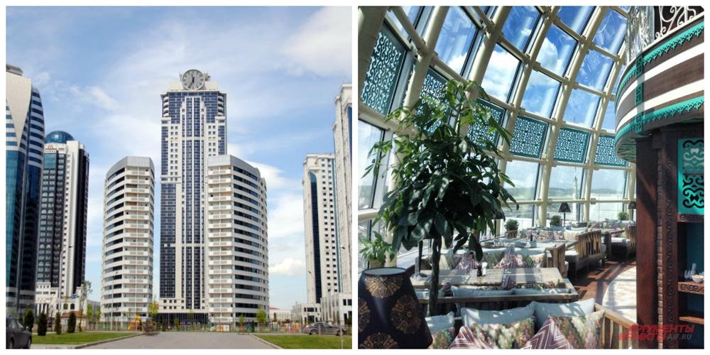 Кафе-бар Купол на 32-м этаже Грозный-сити