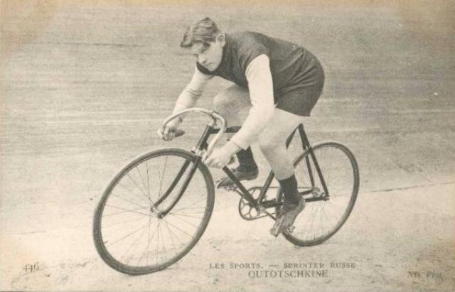 Сергей Уточкин на велотреке.