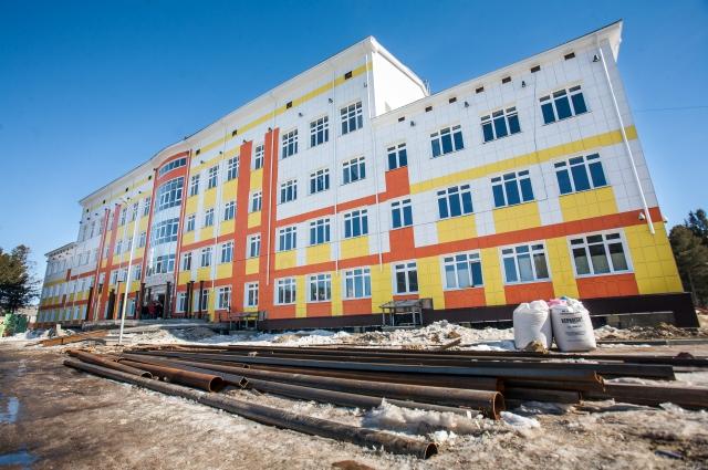 Строящаяся школа в Ханты-Мансийске.