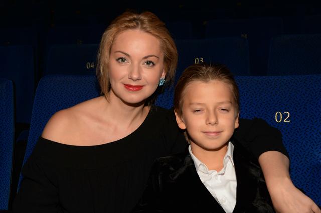 Ольга Будина с сыном.