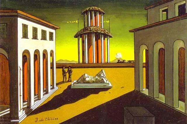 Джорджо де Кирико. Piazza d'Italia, 1914, и Piazza d'Italia (Осенняя меланхолия), 1914