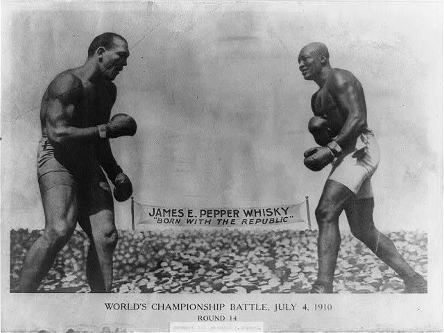 14-й раунд боя Джонсон-Джеффрис.