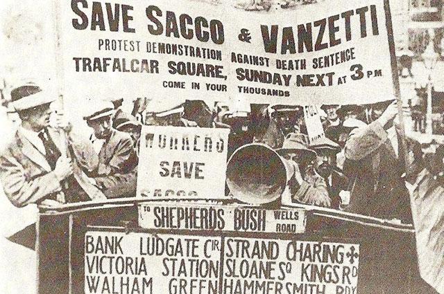 Акция протеста в Лондоне, 1921 г.