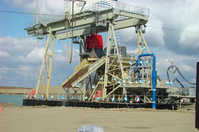 Предприятие по добыче и переработке песчано-гравийной смеси.