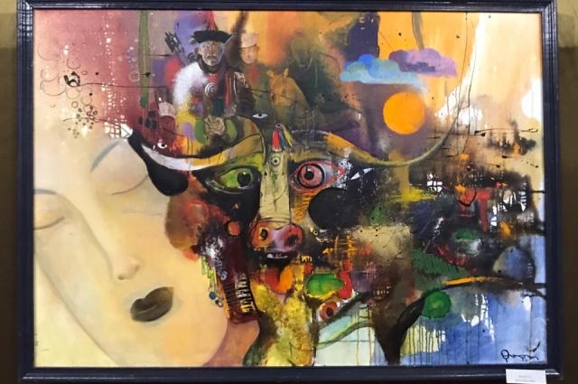 В картине «Буха-Нойон» Бальжинима Доржиева все цвета символичны.