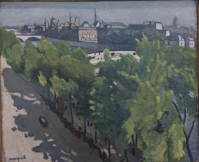 Альбер Марке. Пейзаж с Лувром летом.
