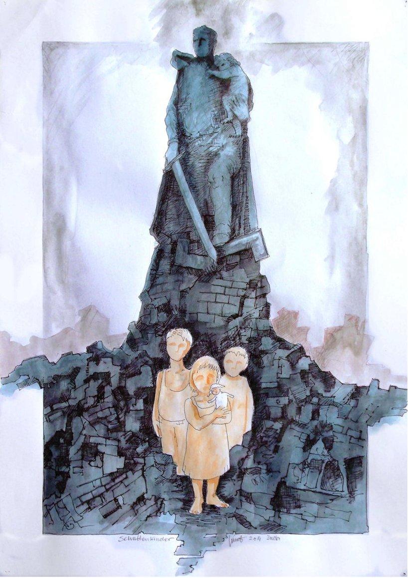 Иллюстрация из книги о русских детях советских солдат, изданной в ФРГ.