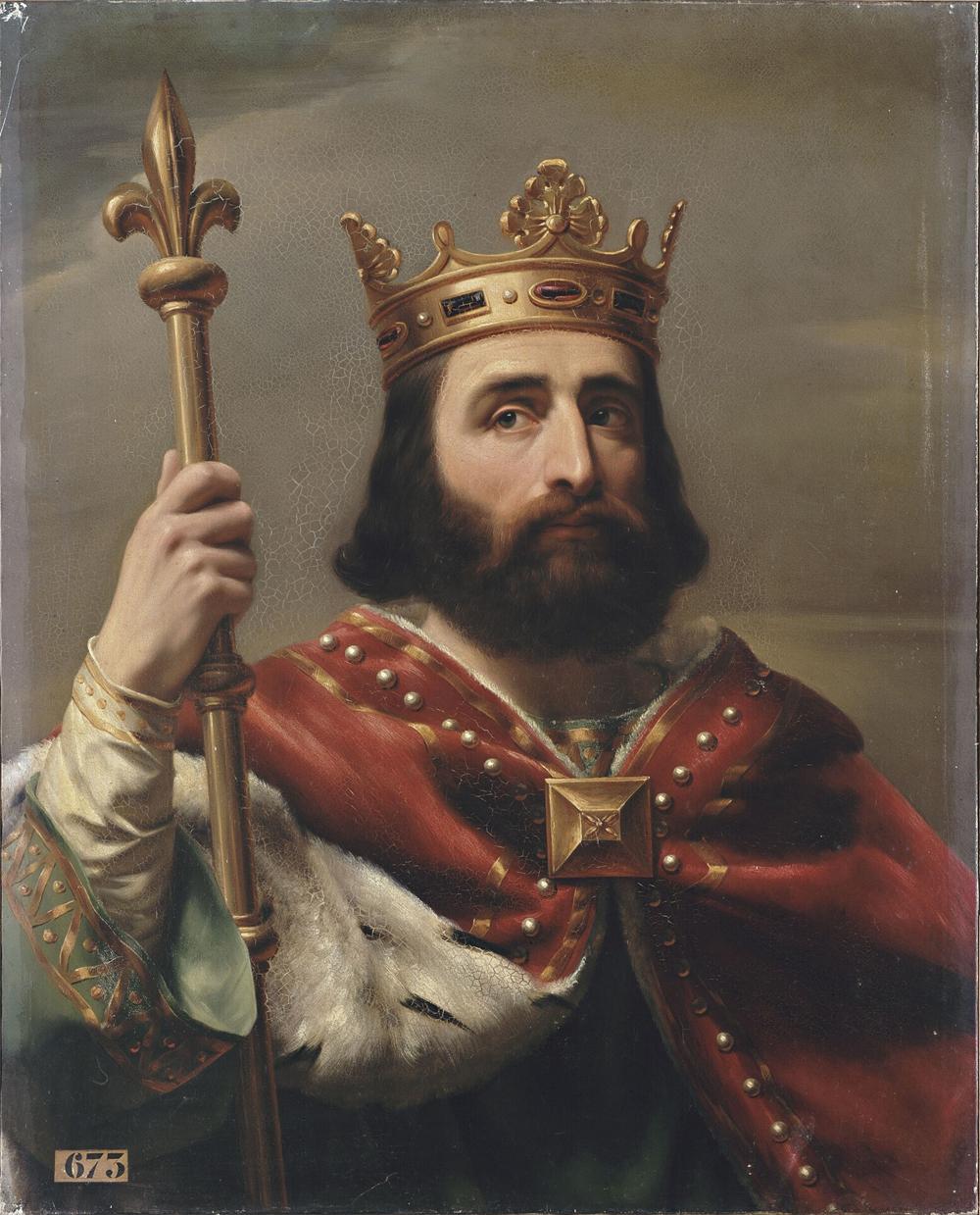 Пипин Короткий, портрет изгалереи «Короли Франции», 1837-38гг.