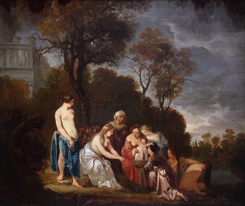 Питер Лели. Нахождение малыша Моисея дочерью фараона.