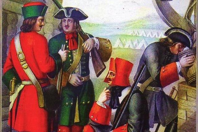 Фузелёры пехотных полков с 1700 по 1720 год.