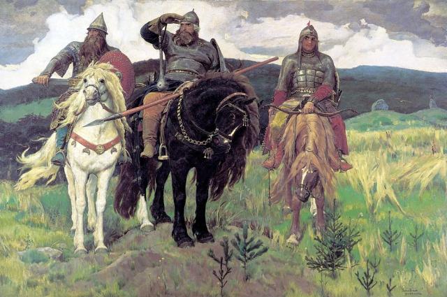 Картина Васнецова стала такой же легендарной, как и персонажи, изображенные на ней.