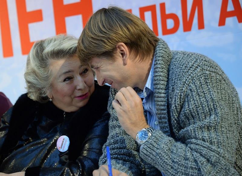 Татьяна Тарасова и её ученик, фигурист Алексей Ягудин.