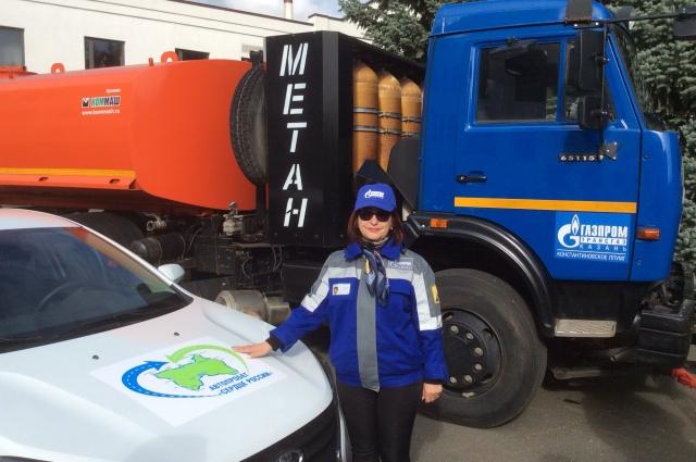 Людмила Гридяева - одна из участниц автопробега.