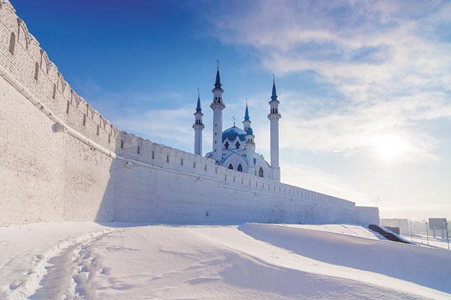 Казанский кремль красив зимой.