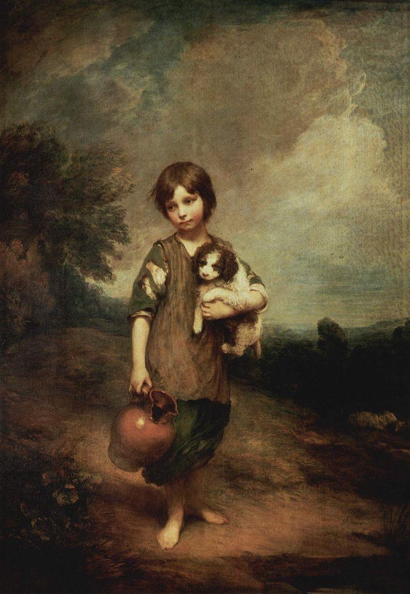 Томас Гейнсборо. Деревенская девочка.