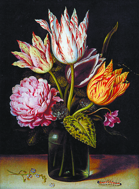 Амброзиус Босхарт. «Натюрморт с букетом тюльпанов»