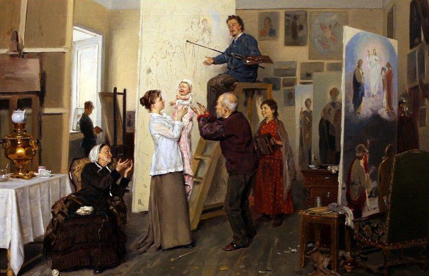 Владимир Маковский. В семье художника.