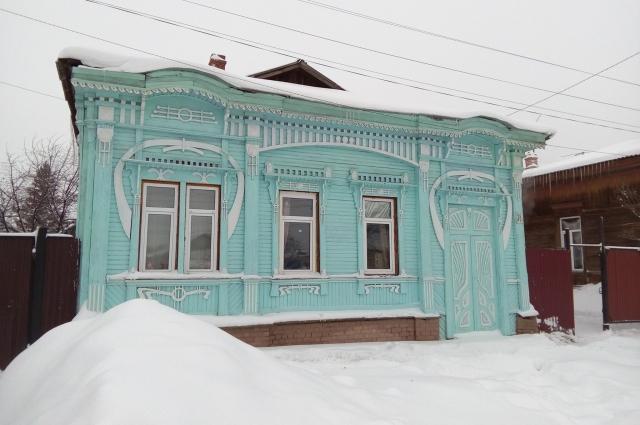 Один из первых домов, отреставрированный волонтерами.