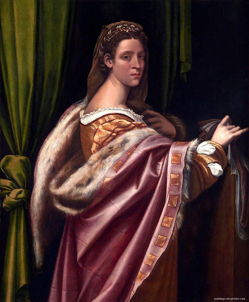 Себастьяно дель Пьомбо (Себастьяно Лучиани). Римская дама в мехах.