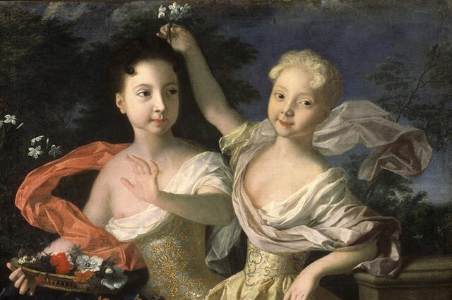 «Портрет цесаревен Анны Петровны и Елизаветы Петровны». 1717 г. Каравак Луи.