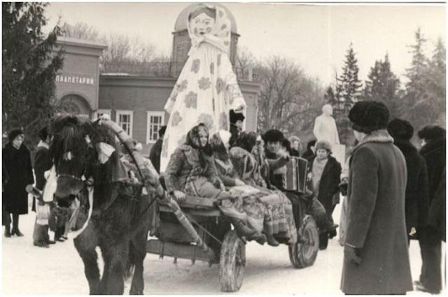 Масленица в Пензе 60-х годов.