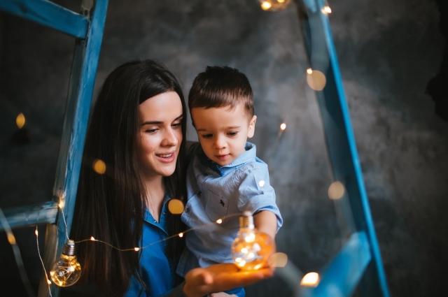 Создательница блога @great_russian с сыном.