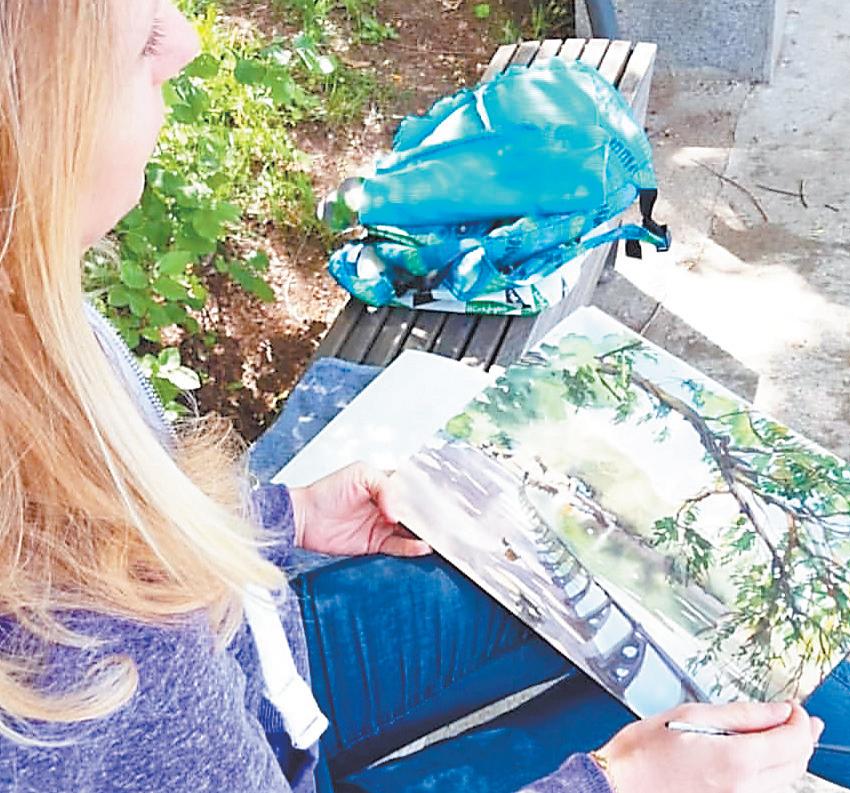 Картины изцикла «Любимые Фили» Алла писала практически  во всех уголках района: наулицах, во дворах, впарке «Фили».