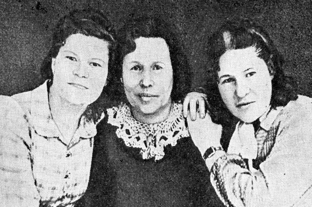 Анна Кислякова с дочерьми во время войны были связными партизан.