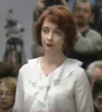 Елена Лукаш в качестве адвоката Виктора Януковича, 2004 год.
