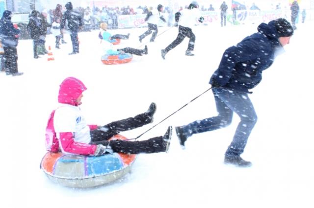 катание на ватрушках, Всероссийский день снега