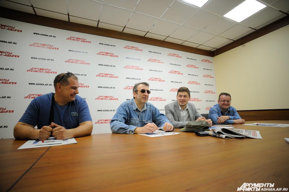 Пресс-конференция с участниками экспедиции в редакции «АиФ-Адыгея».