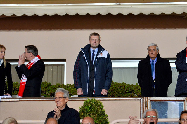 Дмитрий Рыболовлев на матче ФК Монако