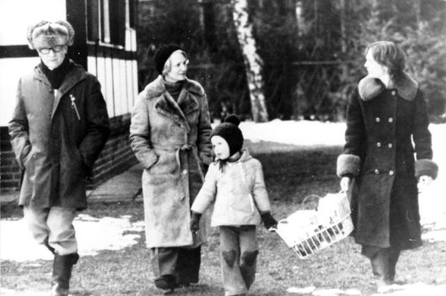 Семья Хонеккера в 1977 году.