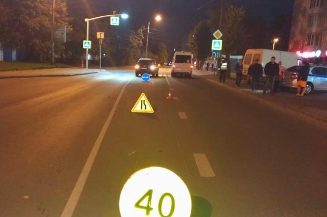 ДТП произошло недалеко от пешеходного перехода.