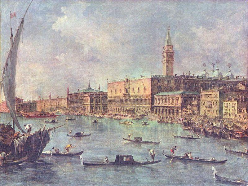 Франческо Гварди. Палаццо дожей в Венеции.