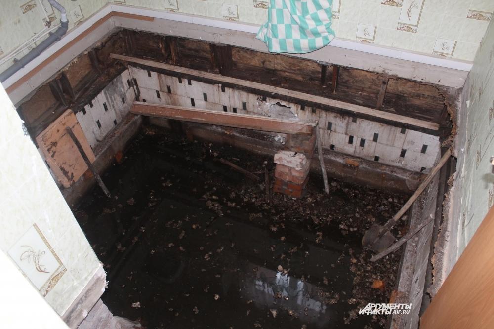 В подвале копится вода.