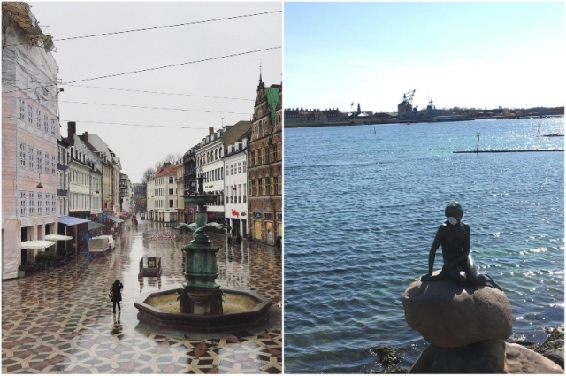Улицы Копенгагена пустые.
