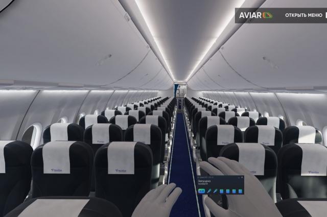 При помощи современных технологий ученые полностью смоделировали реальный салон самолета Boeing 737-800.