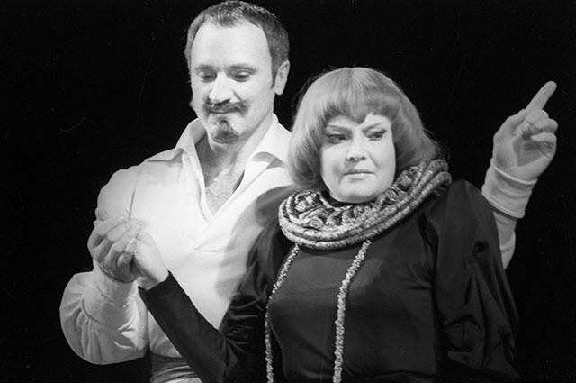 Татьяна Доронина и Борис Химичев. Спектакль попьесе Роберта Болта «Даздравствует королева, виват!»