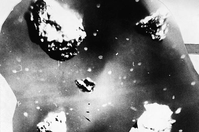 Алмазо-графитовые сростки с места падения Тунгусского метеорита на реке Подкаменная Тунгуска в районе поселка Ванавара в Красноярском крае.