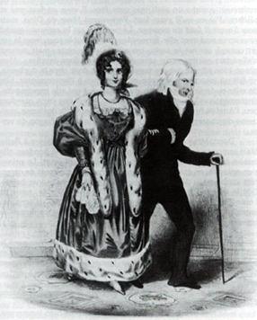 Доротея Курляндская с Талейраном в Лондоне. 1830-1834 г.г.