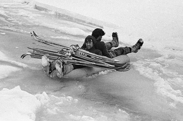 Члены экспедиции на Северный полюс.