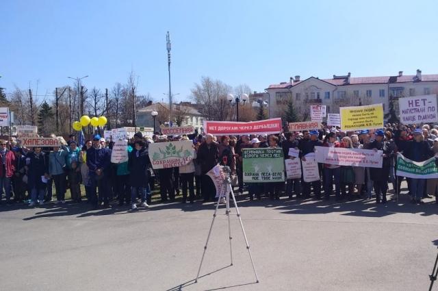 Жители Дербышек на митингах называли проект прокладки дорог в поселке ошибочным.