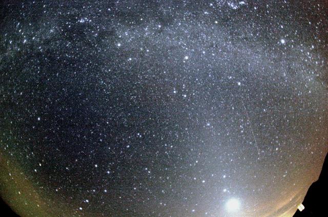 Метеор потока Орионид.