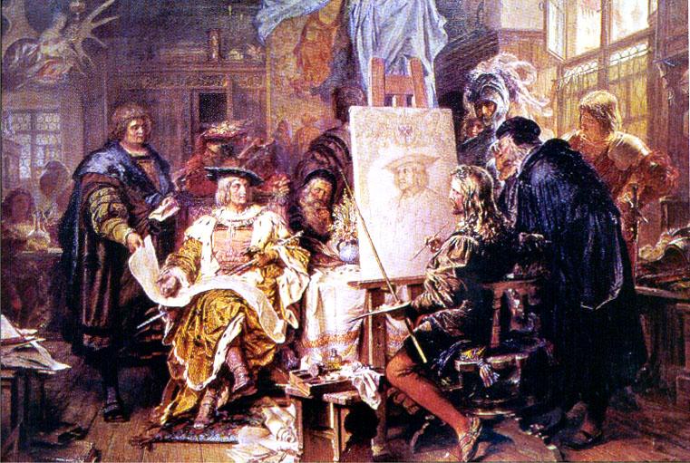 Карл Йегер. Император Максималлиан I в мастерской Альбрехта Дюрера.
