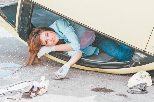 Актриса Александра Власова признаётся, что сама попадала вавтомобильную аварию.